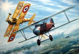 """Ernst Udet and Georges Guynemer "" Albatros DIII/Spad VII - Epic Duel on WW 1"