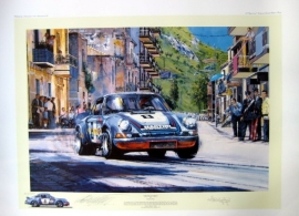 """ The Final Targa "" - 57th Targa Florio 1973 - Porsche 911 Carrera - Gijs van Lennep"
