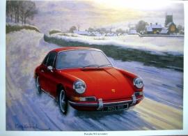 Porsche 911 In Winter - Artist Keith Woodcock