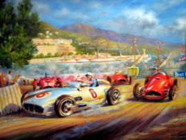 Monaco Grand Prix 1955 - Art Print on HV Silk Mc 250 gr/m2