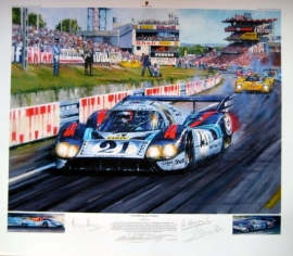 """Giclee """"Langhecks at Le Mans"""" Porsche 917 Le Mans 1971 - Elford/Larousse"""