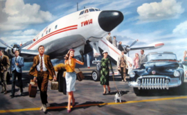 "Lockheed Starliner TWA "" Hollywood Boogie"""