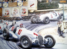 """Monaco Grand Prix 1937"" - Mercedes-Benz W125 #10 von Brauchitsch/#8 Caracciola/#4 Auto Union Stuck/Rosemeyer"