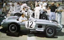 """British Grand Prix 1955 - Aintree"" - Mercedes-Benz W196 #12 #10 #14 Moss/Fangio/Kling"