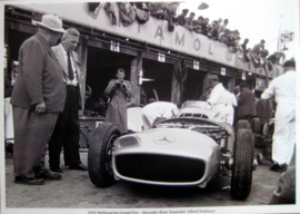 Nürburgring 1954 - Mercedes-Benz W196 With Teamchef Alfred Neubauer - Limited 50 Pcs.