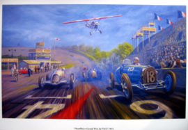 Montlhéry Grand Prix de I'ACF 1934 - Art Print on HV Silk Mc 250 gr/m2