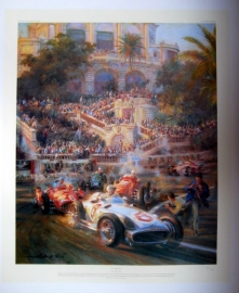 """ Lucky For Some "" - Monaco Grand Prix 1955 - Mercedes-Benz W196/Stirling Moss"
