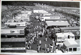 Austrian Grand Prix 1972, Paddock - Print