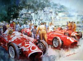 """""""Maserati Team"""" Monaco Grand Prix 1956 - Maserati 250F,s Featuring Stirling Moss"""