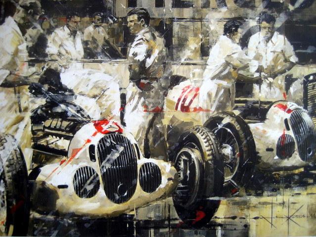 """Full Employment"" Monaco Grand Prix 1937 - Mercedes-Benz W125/Brauchitsch-Caracciola"