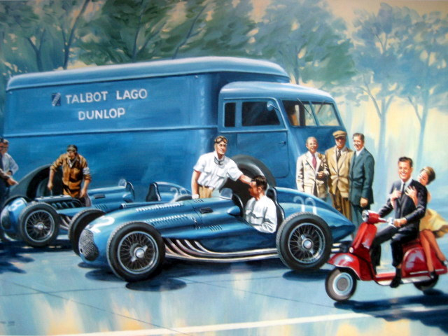""""""" Sweet Fifties """" The Talbot team is preparing both cars for Monza 1951"""