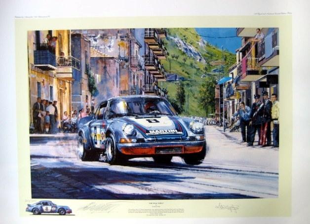 """"""" The Final Targa """" - 57th Targa Florio 1973 - Porsche 911 Carrera - Gijs van Lennep"""