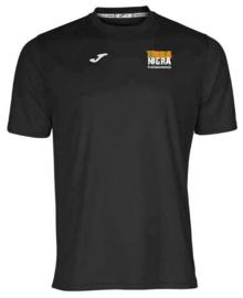 JOMA Combi shirt jongens zwart met borstlogo Terra Nigra