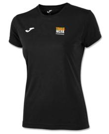 JOMA Combi shirt Meisjes zwart met borstlogo Terra Nigra