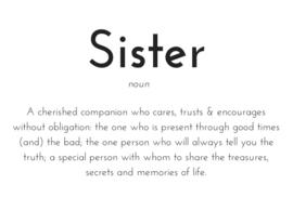 Sister kaart A6