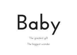 Baby kaart A6