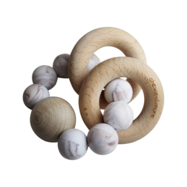 Chewie Rattle Brown Marble