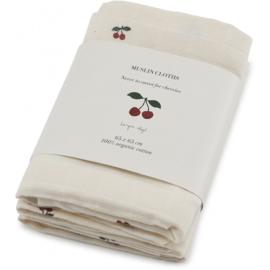 3-pack hydrofiele doeken cherry - Konges Sløjd