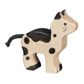 Houten kat/poes 7 cm - Holztiger