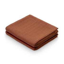 Camcam hydrofiel doek caramel 2- pack