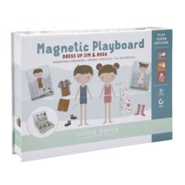 Magnetisch speelbord Rosa en Jim - Little dutch