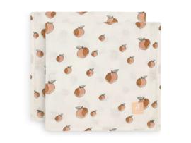 Hydrofiel multidoek large 115x115cm Peach 2-pack