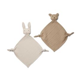 Knuffeldoek Yoko Mini Sandy/stone beige  (2-Pack) - Liewood