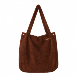 Boucle Warm Brown Mommy Tote Bag - Your Wishes