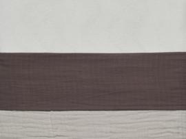 Laken 120x150cm wrinkled cotton chestnut - Jollein