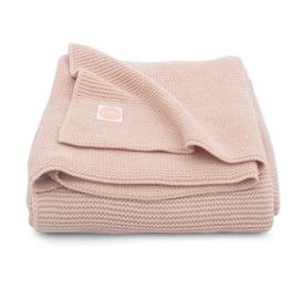 Deken 100x150cm basic knit pale pink - Jollein