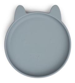 Siliconen bord rabbit sea blue - Liewood