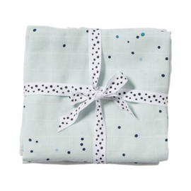 Set van twee swaddles dreamy dots blauw - Done by Deer