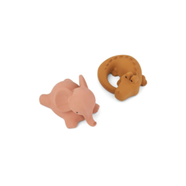 Vikky badspeeltjes safari dark rose mix 2-pack - Liewood