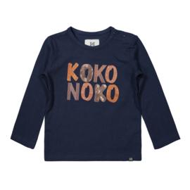 Longsleeve meisjes donkerblauw - Koko Noko