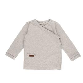 Overslag shirt grey melange - Little Dutch