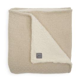 Deken teddy 75x100cm Bliss knit Nougat - Jollein