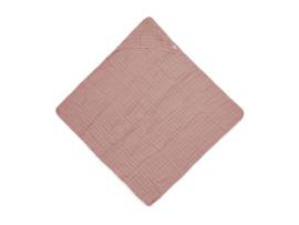 Badcape wrinkled cotton 75x75cm rosewood - Jollein