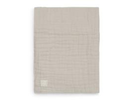 Deken wrinkled cotton 120x120cm nougat - Jollein