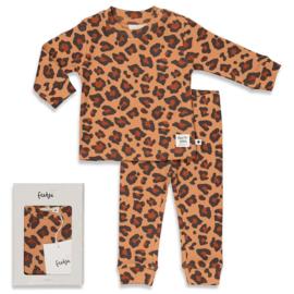 Feetje pyjama Leopard Lee Hazelnoot - Feetje