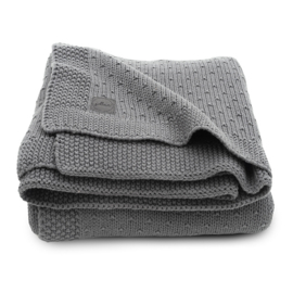 Deken 100x150cm Bliss knit storm grey - Jollein