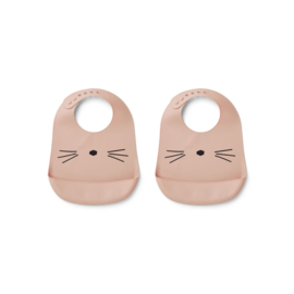 Siliconen slabben Cat rose (2-pack) - Liewood