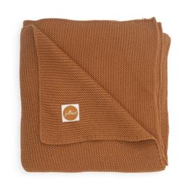 Deken 75x100cm Basic knit caramel - Jollein