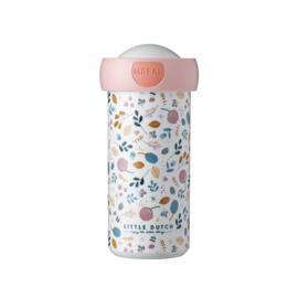 Schoolbeker 300 ml Spring Flowers - Little Dutch x Mepal