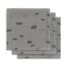 Monddoekje hydrofiel Spot storm grey 3pack - Jollein