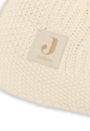 Deken 75x100cm Spring knit ivory/coral fleece - Jollein