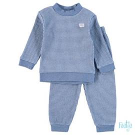 Feetje pyjama wafel Blue melange - Feetje