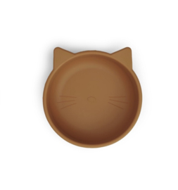 Siliconen kom Cat mustard - Liewood