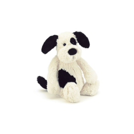 Knuffel small bashful black & cream puppy - Jellycat