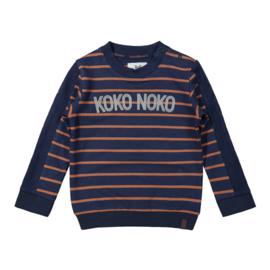 Boys Sweater navy/camel - Koko Noko