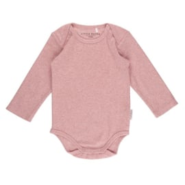 Romper lange mouw Pink Melange - Little Dutch